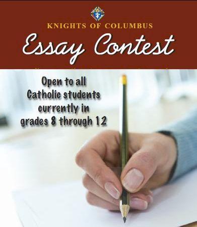 Knights of columbus essay contest